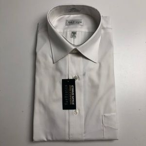Van Heusen Wrinkle Free White Dress Shirt Mens